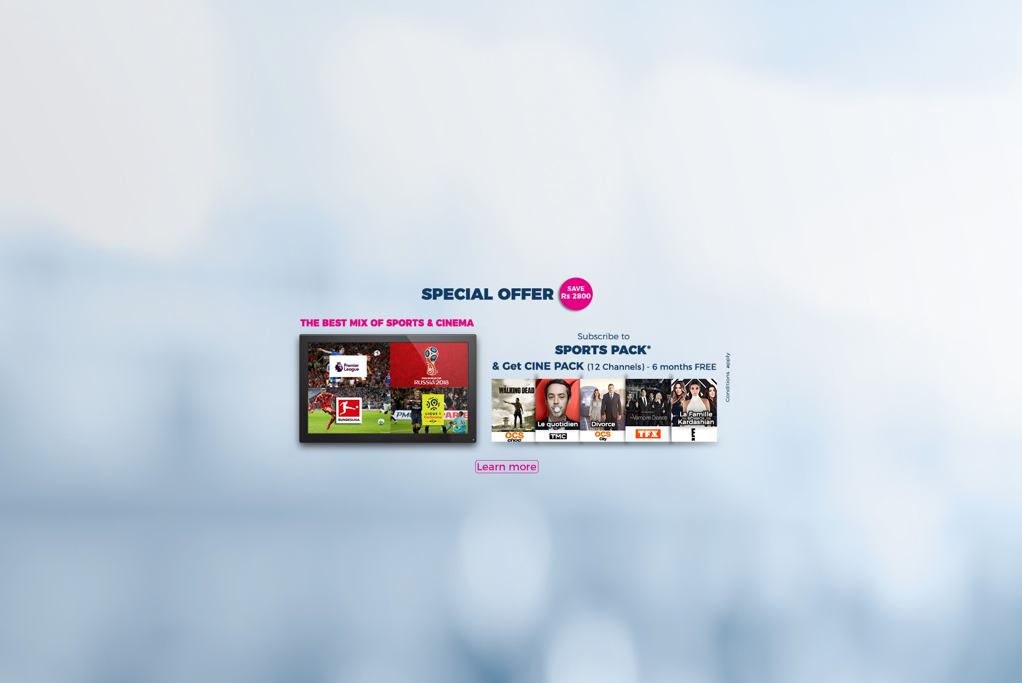 promos - all our tv packs