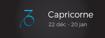 Capricorne: 22 déc - 20 jan