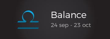 Balance: 24 sep - 23 oct