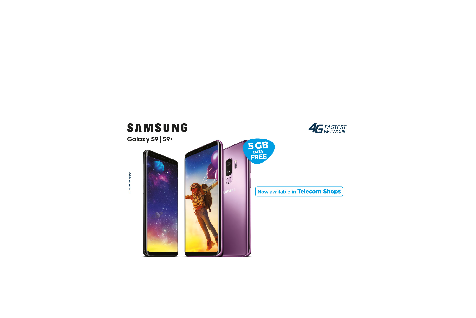 samsung S9 - Available in telecom shops